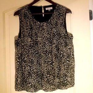 Calvin Klein animal print sleeveless blouse
